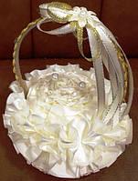 Подушечка корзинка роза под обручальные кольца