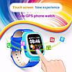 Детские умные часы-телефон с GPS трекером Smart Watch Q90 Голубые, фото 3