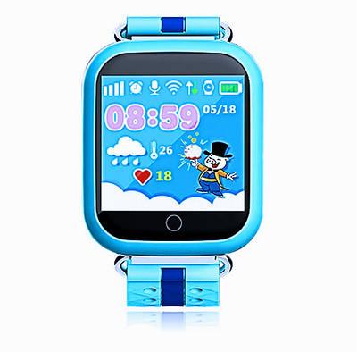 Дитячі розумні годинник-телефон з GPS трекером Smart Watch Q100 Блакитні