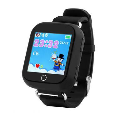 Дитячі розумні годинник-телефон з GPS трекером Smart Watch Q100 Чорні