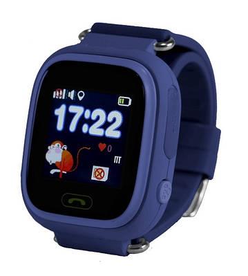 Дитячі розумні годинник-телефон з GPS трекером Smart Watch Q90 Темно сині