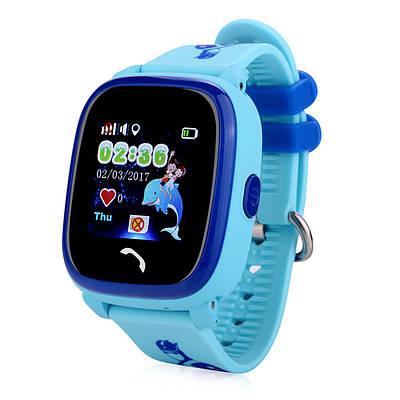 Дитячі розумні годинник-телефон з GPS трекером водонепроникні Smart Watch Aqua Q300-DF Блакитні