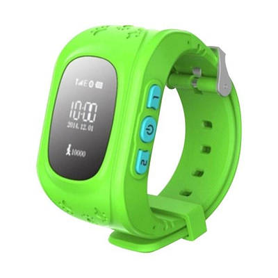 Дитячі смарт-годинник Smart Watch Q50 з GPS трекер Green (in-113)