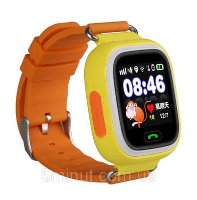 Детские умные часы-телефон с GPS трекером Smart Watch Q100s Оранжевые (hub_sgUe15269)