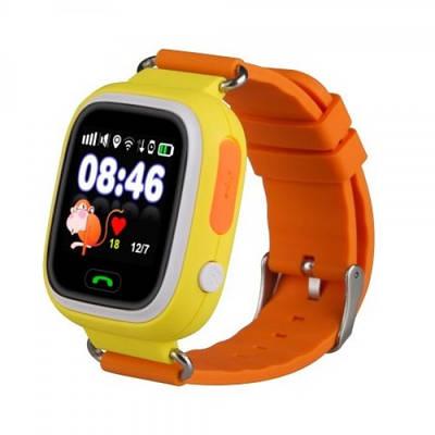 Дитячі смарт годинник з GPS трекером Smart Watch Q90 Помаранчевий (an1142i3043)