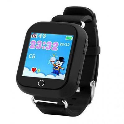 Дитячі розумні годинник-телефон з GPS трекером Smart Watch Q100s Чорні (an1150i3046)