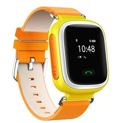 Детские умные часы Smart Watch Q60 с GPS трекером Оранжевый (i2086)