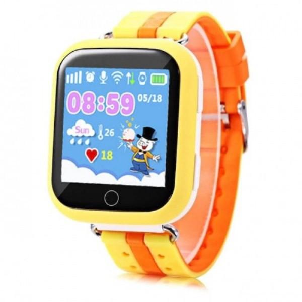 Детские смарт-часы Smart Baby Watch Q100 с GPS трекером Yellow (FL-168)