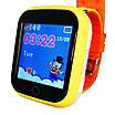 Детские смарт-часы Smart Baby Watch Q100 с GPS трекером Yellow (FL-168), фото 3