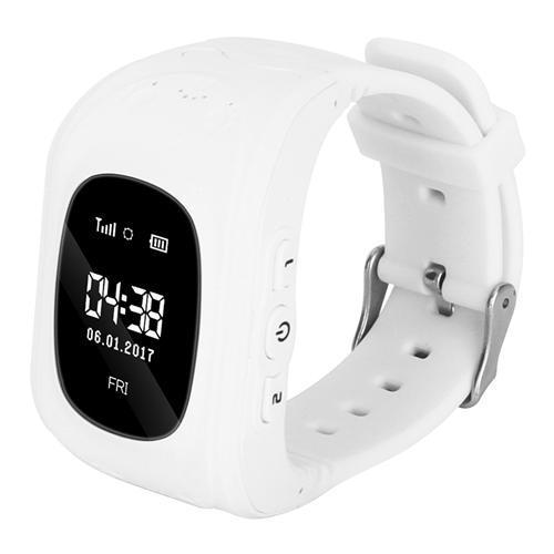 Детские смарт часы-телефон с GPS трекером KinderWatch Q50 Белый (hubber-9-3)