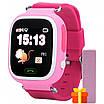 Смарт-часы UWatch Q90 детские с GPS трекером Pink (1058-7791), фото 2