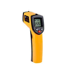 Бесконтактный инфракрасный термометр Vktech GM320 до 380 градусов Оранжевый (100099)