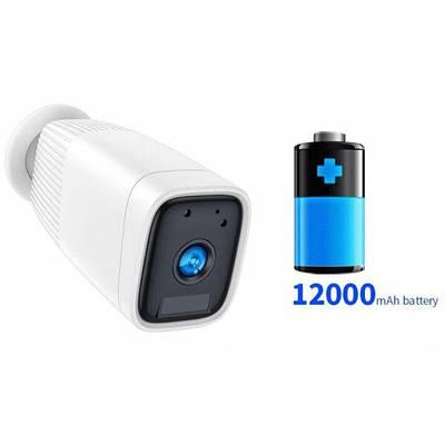 Wifi камера с большим аккумулятором 12 000 мАч Sdeter B-12, уличная, с записью на SD карту до 128 Гб, Белая