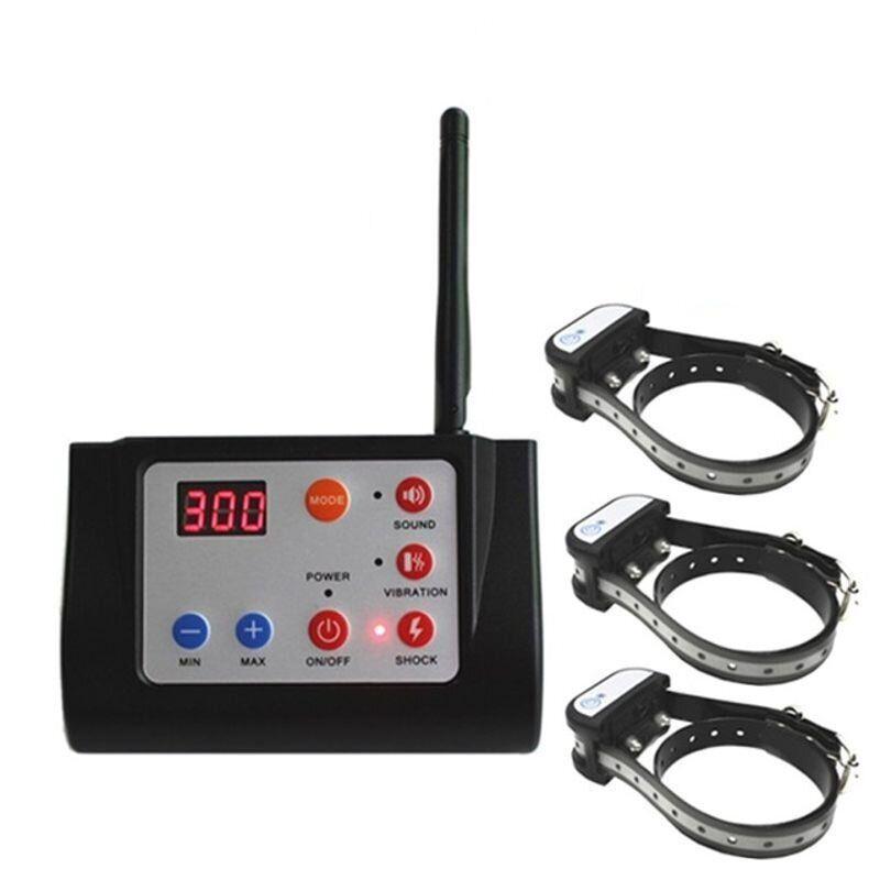 Беспроводной электронный забор для собак + электронный ошейник для дрессировки 3-х собак Petguider 883-3