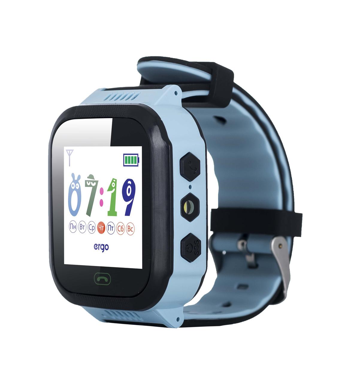 Детские часы с GPS трекером ERGO GPS Tracker Color J020 Blue (6389380)