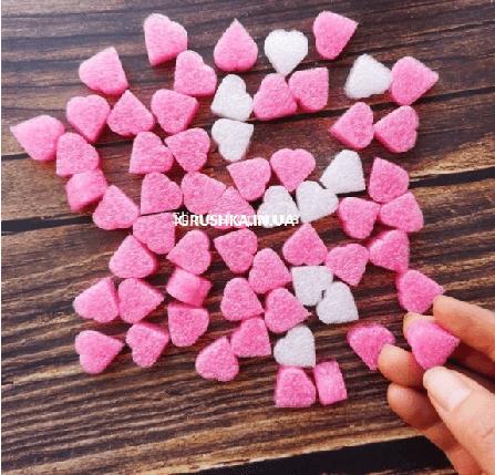 Джелли сердечки для слайма розовые, фото 2