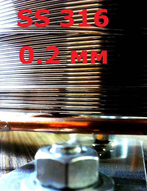 Дріт нержавіючий для сигарет SS 316 д. 0,2 мм