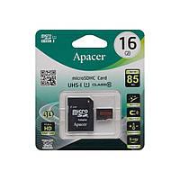 Карта Памяти Apacer MicroSDHC 16gb 10 Class & Adapter R85MB/s
