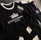 Мужской спортивный костюм Dolce&Gabbana CK1123 черный, фото 2