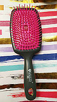 Расчёска для волос SALON массажная продувная с мягкими формованными кончиками разных форм и размеров