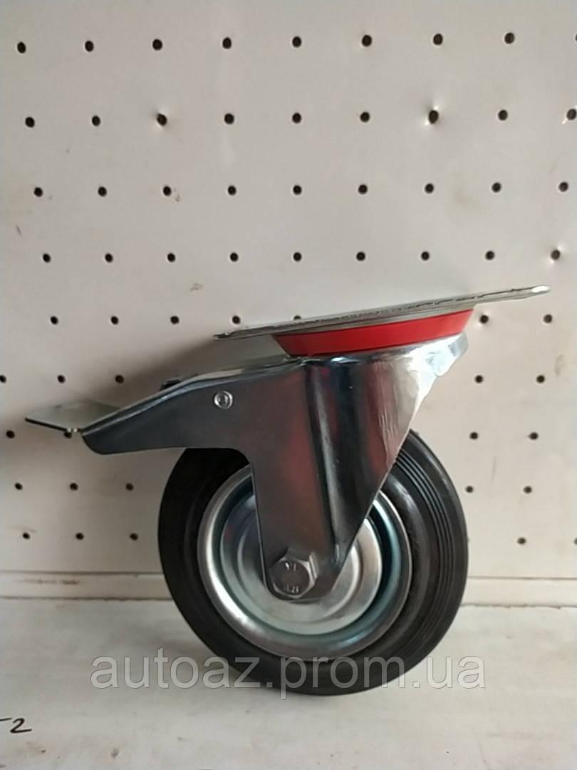 Колесо поворотное с тормозом 160 мм