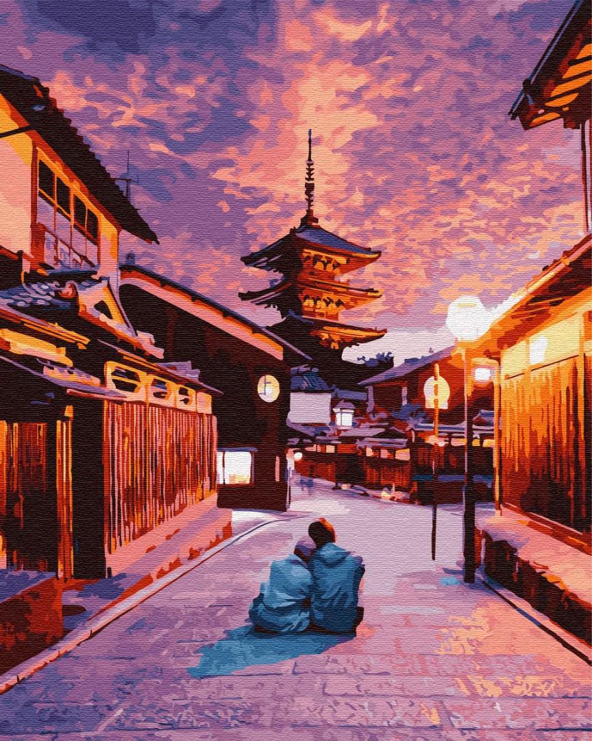Картина по номерам GX28891 Романтика в Киото 40х50см. Brushme