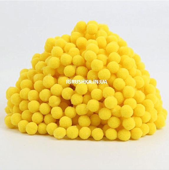 Помпоны для слайма желтые