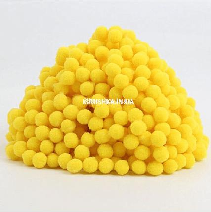 Помпоны для слайма желтые, фото 2