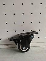 Поворотное колесо с тормозом 50 мм цельная резина, фото 1