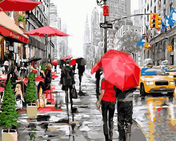 Картина по номерам GX8091 Дождь в Нью-Йорке 40х50см. Brushme, фото 2