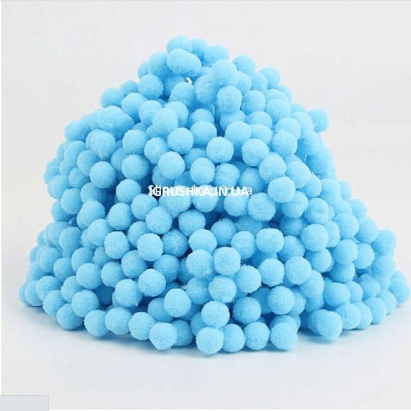 Помпоны для слайма голубые