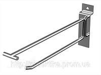 Крючок с ценникодержателем на экономпанель 250 мм