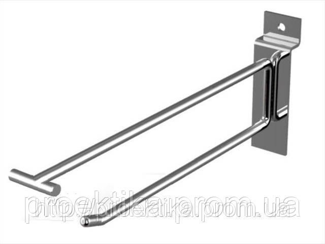 Крючок с ценникодержателем на экономпанель 250 мм, фото 1