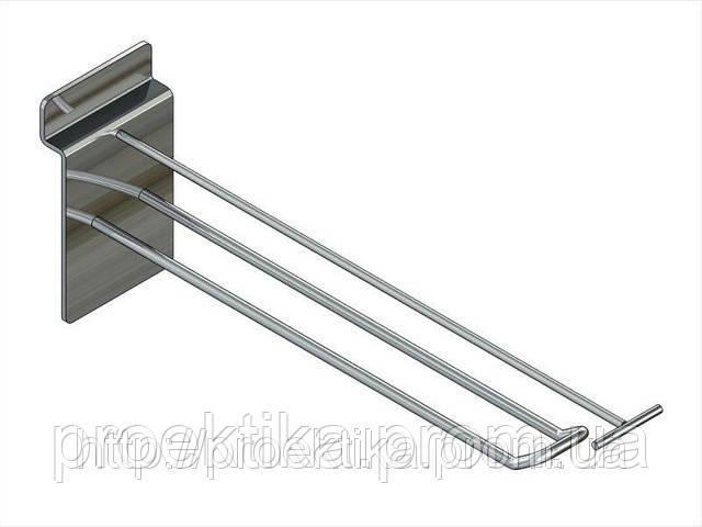 Крючок двойной с ценникодержателем 200 мм, фото 1