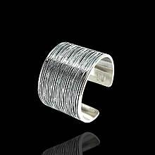 Широкое серебряное кольцо универсального размера