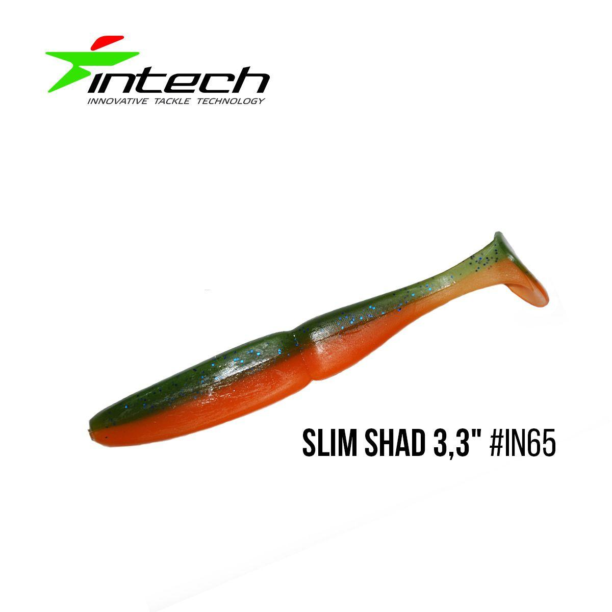 "Приманка Intech Slim Shad 3,3""(7 шт) (IN65)"