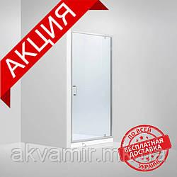 Душевая дверь в нишу Dusel FА-516, 90х190, дверь распашная, стекло прозрачное