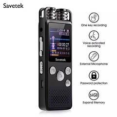 Цифровий диктофон Savetek GS-R07 original, 8 Гб пам'яті, стерео, SD до 64 Гб