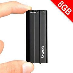 Миниатюрный диктофон с активацией голосом Savetek 600, 8 Гб памяти