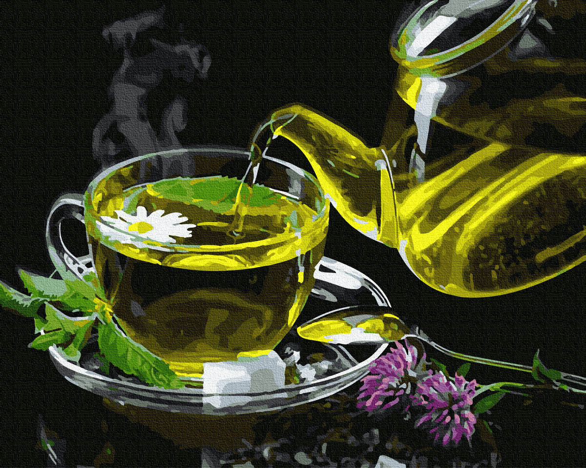 Картина по номерам GX35221 Травяной чай 40х50см. Brushme
