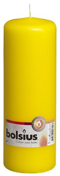 Свеча цилиндр Bolsius желтая 20 см (70/200-010Б ZOL)