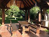 Мебель деревянная для площадки под мангал на даче от производителя, фото 2