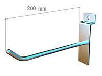 Крючок на экономпанель одинарный 200 мм, фото 1