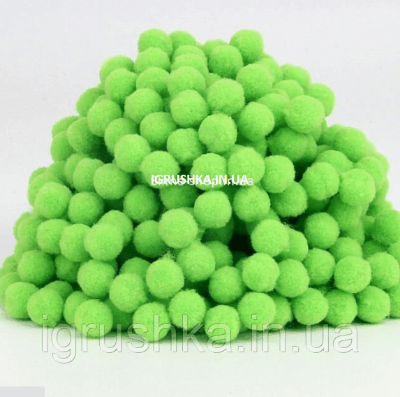 Помпоны для слайма зеленые