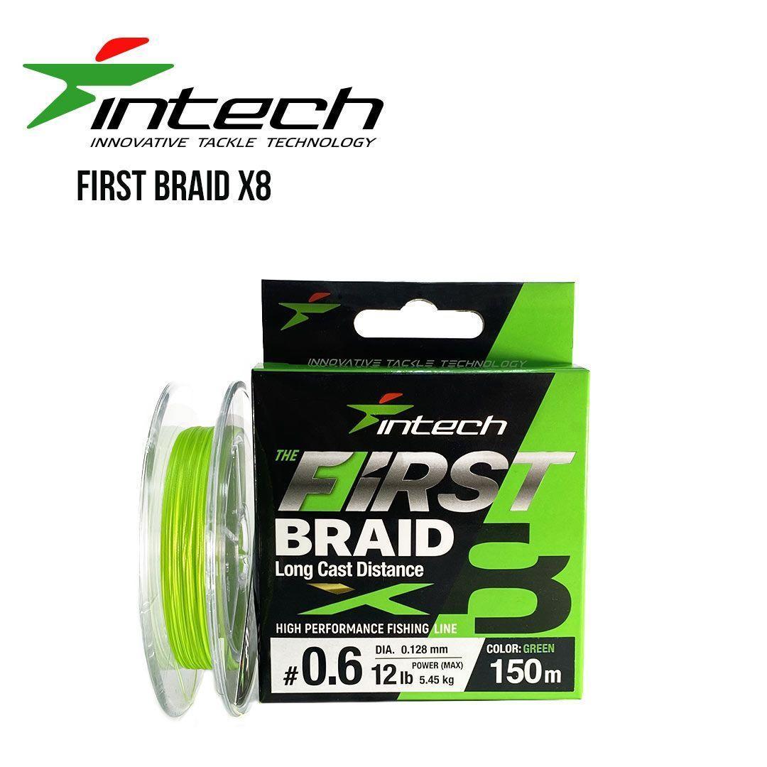 Шнур плетеный Intech First Braid X8 100m (0.6 (12lb/5.45kg))