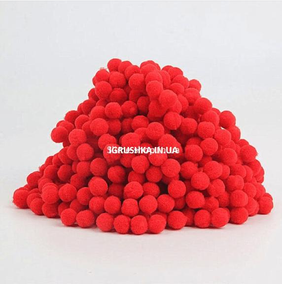 Помпоны для слайма красные