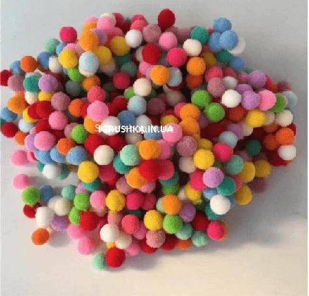 Помпоны для слайма разноцветные, фото 2