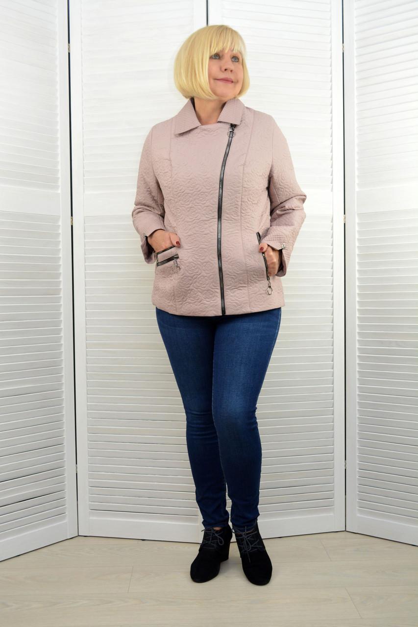Куртка на молнии бежевая - Модель Х9