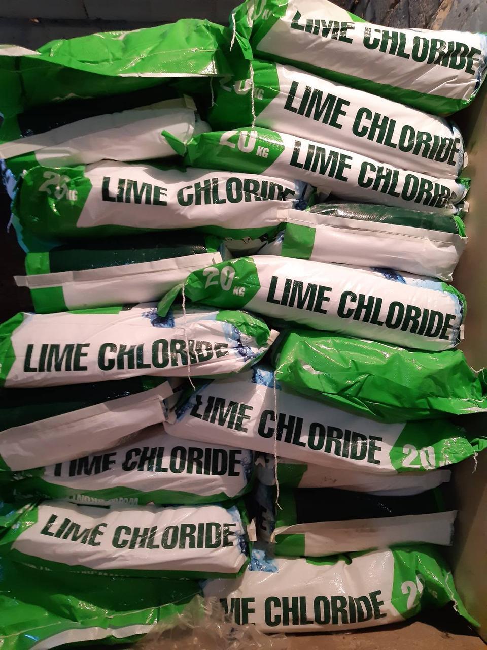 Известь хлорная, 1 сорт (Болгария) 20 кг, хлорка, гипохлорит кальция мешок 20 кг