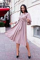 Женское платье миди с поясом больших размеров, фото 1